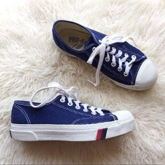 Vintage 7s 80s Pro Keds Royal Blue